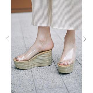 アメリヴィンテージ(Ameri VINTAGE)のAMERI  CLEAR WEDGE SOLE SANDAL(サンダル)