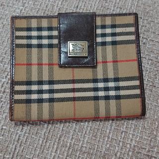 バーバリー(BURBERRY)の■バーバリー チェック柄 ガマ口 二つ折り財布 ブラウン C298(折り財布)