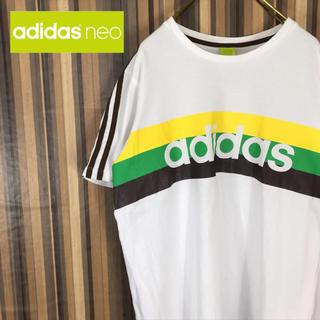 アディダス(adidas)のadidas アディダス Tシャツ 半袖 カットソー ビッグロゴ スリーライン(Tシャツ/カットソー(半袖/袖なし))
