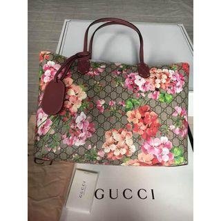 グッチ(Gucci)のGUCCI グッチ GG ブルームス リバーシブル トートバッグ(トートバッグ)