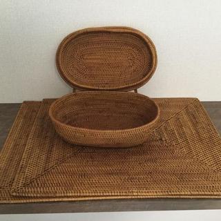 ムジルシリョウヒン(MUJI (無印良品))のアタ かご ランチョンマット(テーブル用品)