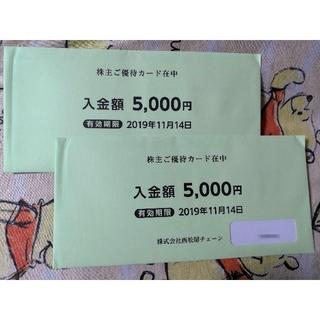 西松屋チェーン株主優待券 株主ご優待カード10000円分 西松屋株主優待