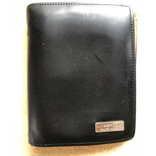 バーバリーブラックレーベル(BURBERRY BLACK LABEL)のバーバリーブラックへレーベル 二つ折り財布 パスケース付き(折り財布)