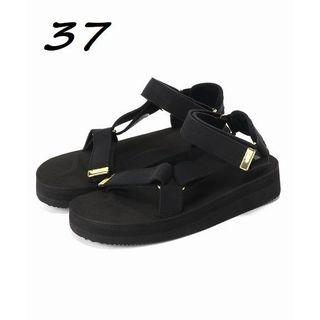 新品 サイズ37 SUICOKE SUEDE SANDAL ブラック