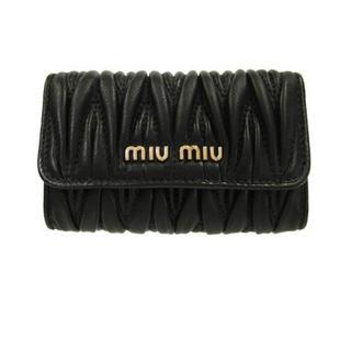 miumiu - 新品 ミュウミュウ キーケース 黒 マテラッセ