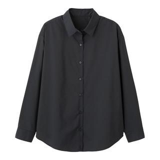 GU - 新品 タグ付き ブラックS 2WAY長袖オーバーサイズシャツ 匿名配送