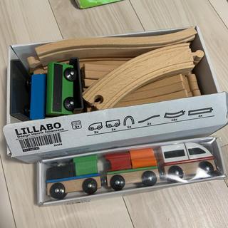 イケア(IKEA)のIKEA リラブー lillabo 木製レール 電車(電車のおもちゃ/車)