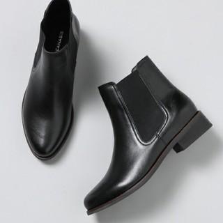 ジーナシス(JEANASIS)のJEANASIS レザーサイドゴアブーツ(ブーツ)