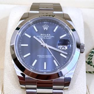 ロレックス(ROLEX)の正規店購入 ROLEX デイトジャスト 41  ブルー文字盤 126300(腕時計(アナログ))