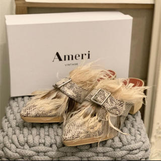 アメリヴィンテージ(Ameri VINTAGE)のAmeri Vintage フェザー バブーシュ(サンダル)