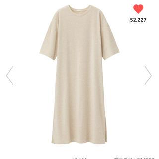 GU - ★美品★ スリットTワンピース(5分袖)