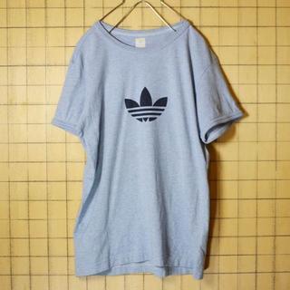 adidas - adidas アディダス ロゴ プリント 半袖 Tシャツ ブルーS ss73