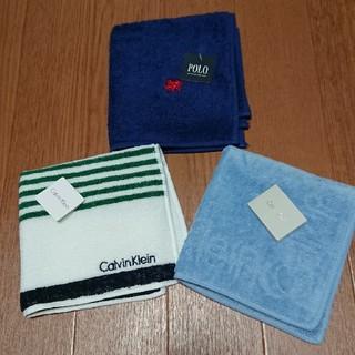 カルバンクライン(Calvin Klein)のSALE 新品タオルハンカチ 3枚(ハンカチ/ポケットチーフ)