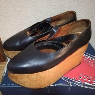 ヴィヴィアンウエストウッド(Vivienne Westwood)のヴィヴィアンウエストウッドロッキンホースバレリーナブラック24.5センチ程度(ローファー/革靴)