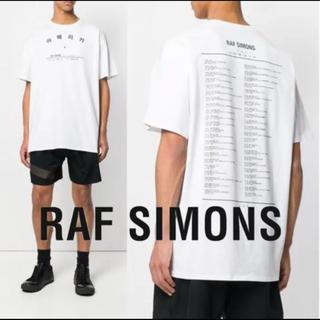 RAF SIMONS - RAF SIMONS ラフシモンズ  ハングル文字 アメリカT