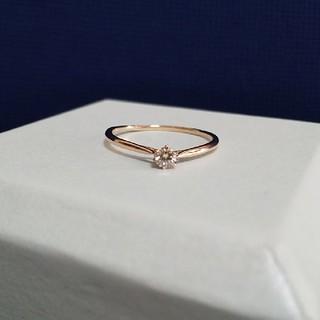 K10ピンクゴールド 天然ダイヤモンド 0.08ct 一粒デザインリング(リング(指輪))