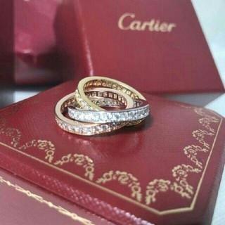 Cartier - 本物!カルティエ トリニティ スリーカラー 3連リング