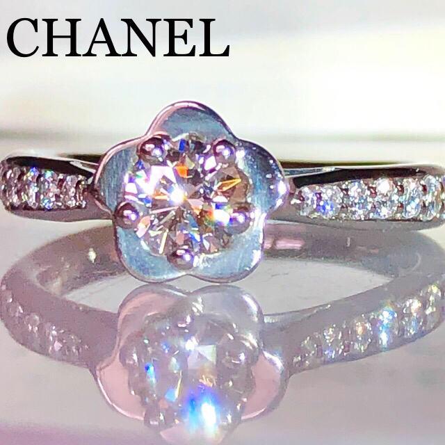 CHANEL(シャネル)のシャネル 0.30ct PT Fカラー VVS2 ダイヤモンド リング 鑑定書 レディースのアクセサリー(リング(指輪))の商品写真