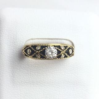 k18 ヤーネス リング ダイヤモンド 11.5号 新品仕上げ済み ブラック(リング(指輪))