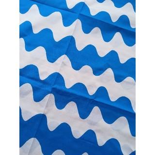 マリメッコ(marimekko)のマリメッコ ピックロッキ LOKKI  ブルー 青 marimekko 波 貴重(生地/糸)