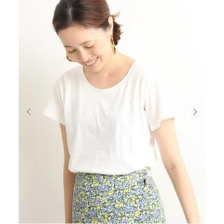 イエナスローブ(IENA SLOBE)のSLOBE IENA ペルビアンコットンクルーネックTシャツ(Tシャツ(半袖/袖なし))
