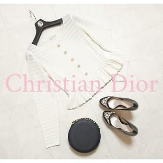 クリスチャンディオール(Christian Dior)のChristian Dior フリル カーディガン ペプラム(カーディガン)