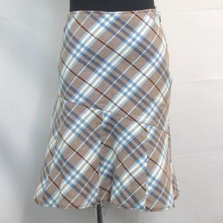 バーバリーブルーレーベル(BURBERRY BLUE LABEL)のバーバリーブルーレーベル チェック柄 スカート コットン 12-420(ひざ丈スカート)