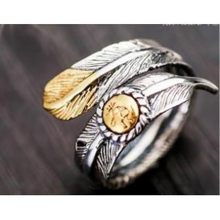 ゆうメール送料込み イーグルリング指輪 サイズ調整可能フリーサイズ(リング(指輪))