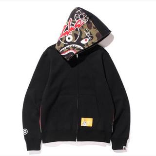 bape × futura shark hoodie シャークパーカー