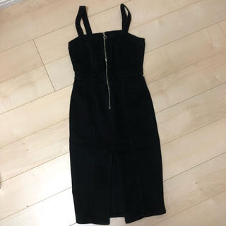 ZARA - 一度着用 ザラ ZARA ブラックデニム サロペット スカート