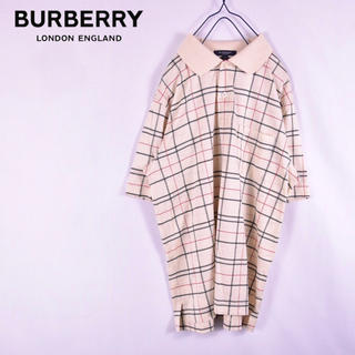 BURBERRY - BURBERRY  LONDON  バーバリー ノバチェック ポロシャツ三陽商会