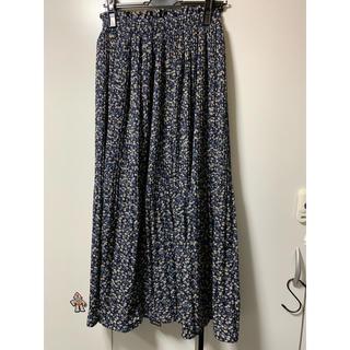 しまむら - しまむら 花柄ケシプリーツスカート 花柄ロングスカート
