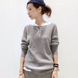 L'Appartement DEUXIEME CLASSE - アパルトモン ドゥーズィエムクラス Thermal Knit グレー 新品