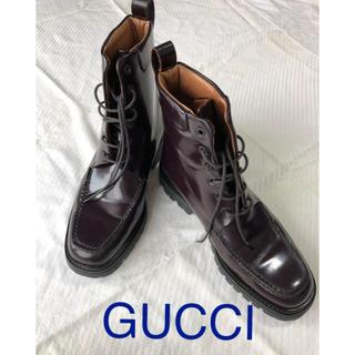 Gucci - GUCCI men's編み上げブーツ