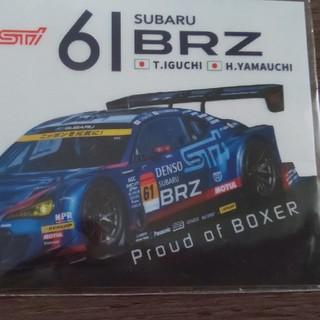 スバル(スバル)の非売品☆super GT SUBARUスバル  BRZ ステッカー(ノベルティグッズ)