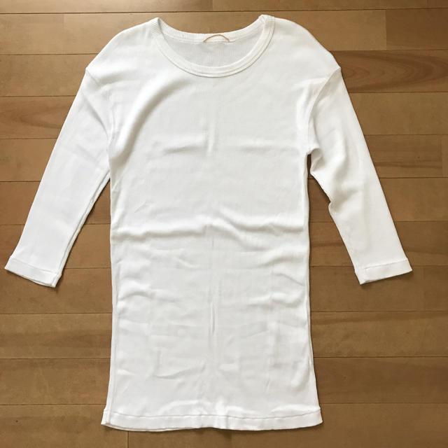 DEUXIEME CLASSE(ドゥーズィエムクラス)のドゥーズィエムクラス リブTシャツ 未使用品  ホワイト レディースのトップス(カットソー(長袖/七分))の商品写真
