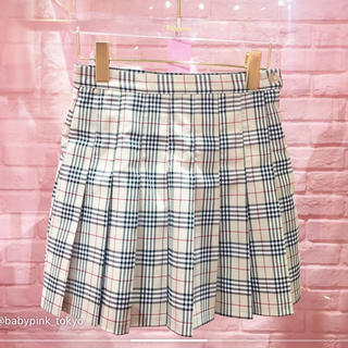 B check mini skirt