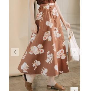 グリード(GREED)の今季BB Antique Rose Print Skirt  Sサイズ(ロングスカート)