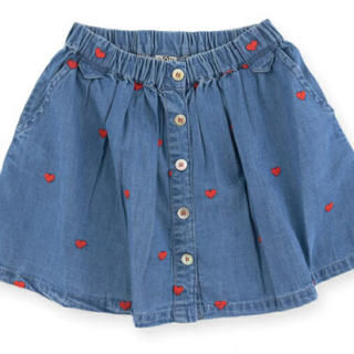 ボンポワン(Bonpoint)の新品タグ付き bonton ボントン デニムスカート 8y(スカート)