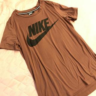 NIKE - 美品(*・ω・*)ナイキ 茶系半袖Tシャツ♪ロゴ