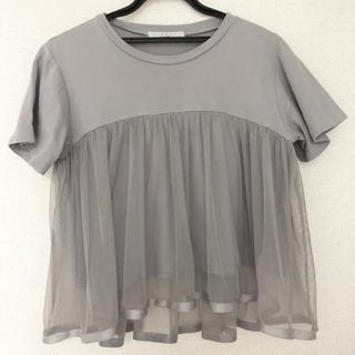 ケービーエフ(KBF)のKBF チュールトップス(Tシャツ(半袖/袖なし))