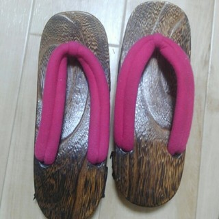 ピンク 下駄(下駄/草履)