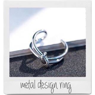 BEAMS - No.2 ring silver