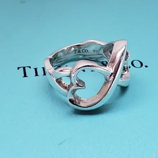 ティファニー(Tiffany & Co.)の正規品 ティファニー ダブルラビングハート リング 4号(リング(指輪))