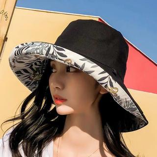 紫外線に対策帽子 ブラック (ハット)