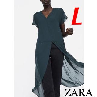 ZARA - 新品 完売品 ZARA L シースルー チュニック トップス