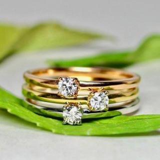トクトクジュエリー メイジュエリー 天然ダイヤモンド リング(リング(指輪))
