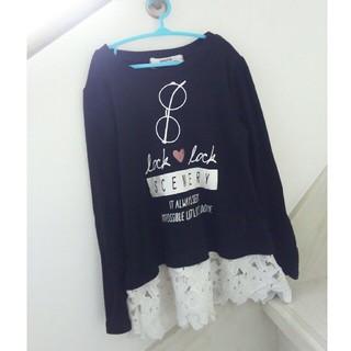シマムラ(しまむら)の裾レース秋物カットソーロンティー140(Tシャツ/カットソー)