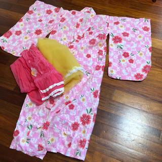 ユニクロ(UNIQLO)の女の子 浴衣 120 帯2本付(甚平/浴衣)