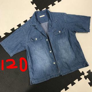 GU - 120 デニム  シャツ 薄手 カジュアル キッズ トップス